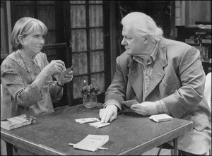 Julie Harris and Charles Durning in THE GIN GAME, last time around