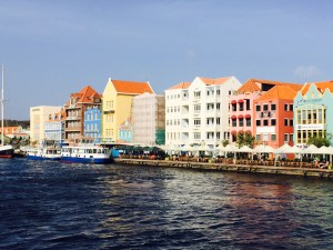 The iconic view of Willemstad Harbour