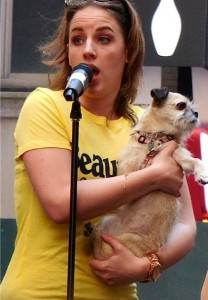 BEAUTIFUL's Jesse Mueller at Broadway Barks