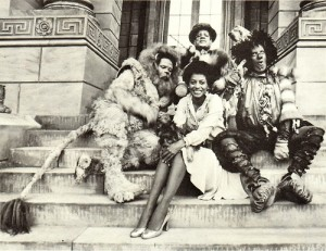 film cast of THE WIZ including Michael Jackson
